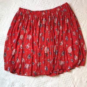 Torrid Gathered Floral skirt Size 2 Plus
